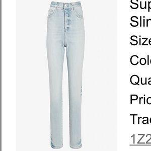 Express Slim Super High Rise Jeans